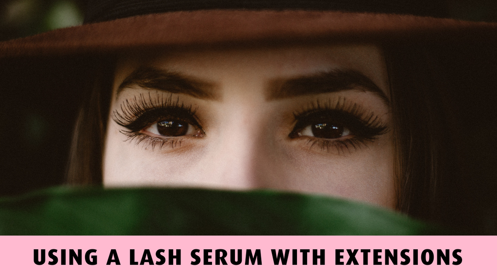 Using A Lash Serum With Extensions