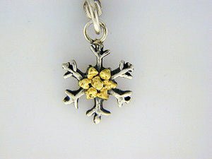 C008  Snowflake with Small charm with Nuggets