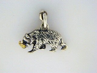 C009  Bear/Fish Charm with Nuggets