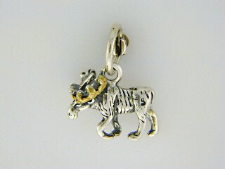 C076  Charm Moose Silver & Nuggets
