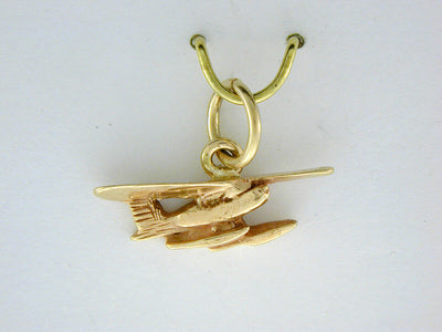 C300  Airplane Small Charm 14kt