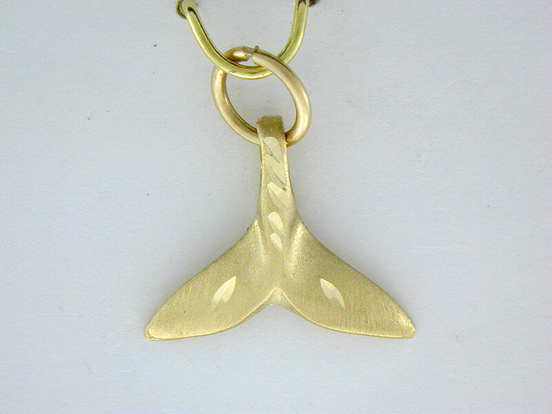 C309  Whale Tail Charm 14kt