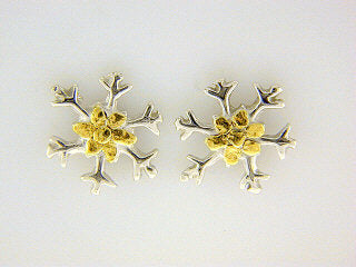 EP006  Snowflake with Silver Earring Posts