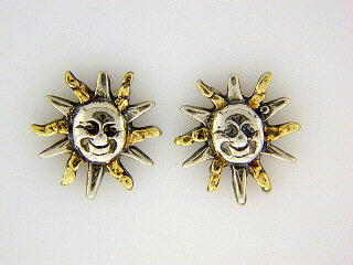 EP007  Sun Silver Earring Posts