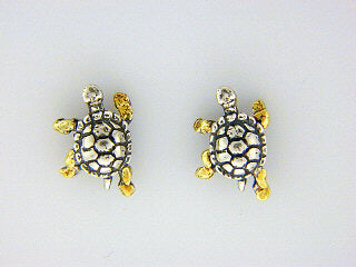 EP008  Turtle Silver Earring Posts