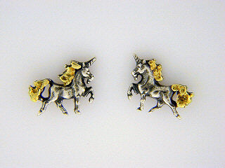 EP016  Unicorn Silver Earring Posts