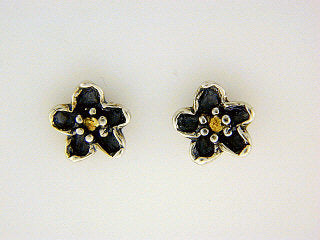 EP021  Forget-Me-Not Silver  Earring Posts