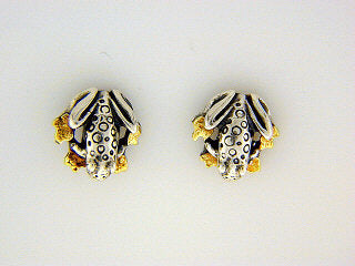 EP030  Frog Silver Earring Posts