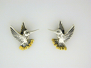 EP063  Hummingbird Silver Earring Posts