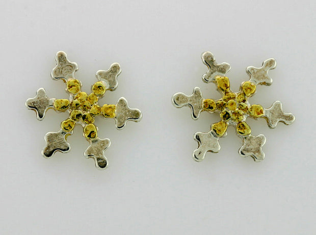 EP131  Snowflake with Earring Posts