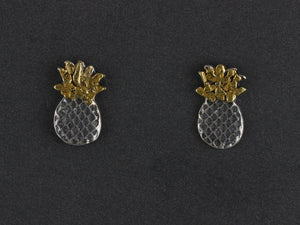 EP195  Silver Small Pineapple Ear Posts