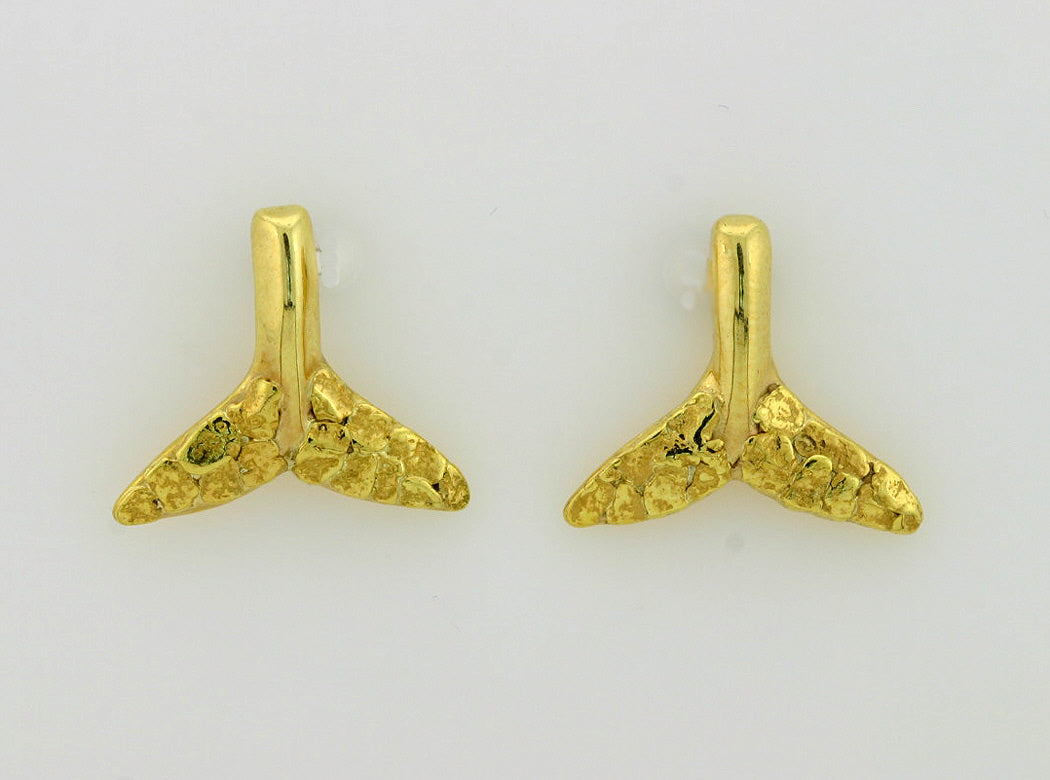 EP225  Whale Tail Earring Posts all 14kty
