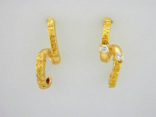 EP292  14kt Db. Round Earring Posts