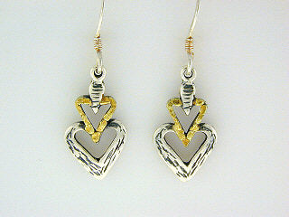 EW033  Heart Earring Wires