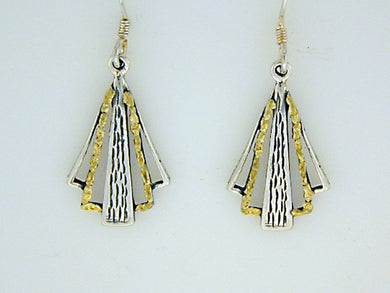 EW036  Earring Wires Fan Triangle
