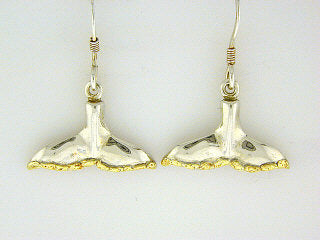 EW042  Whale Tail Earring Wires