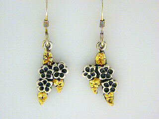 EW075  Forget-Me-Not Earring Wires