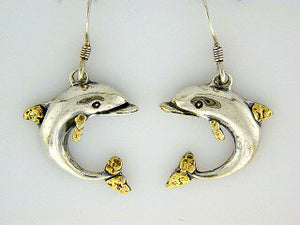 EW077  Dolphin Large Earring Wires
