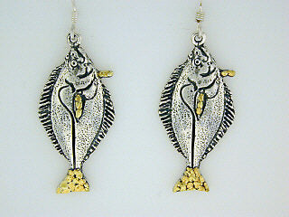 EW095  Halibut Large Earring Wires