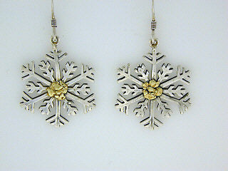EW109  Snowflake with Large Earring Wires