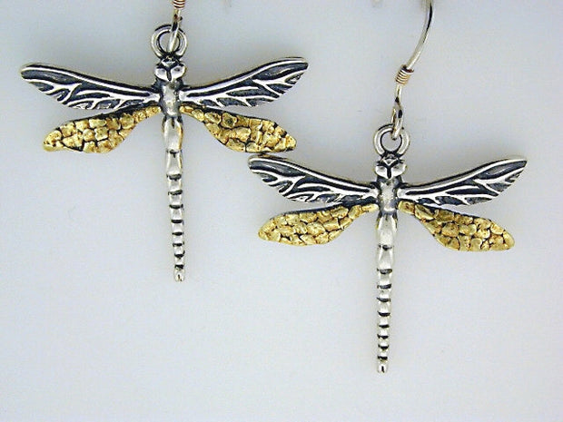 EW113  Dragonfly Medium Earring Wires