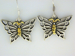 EW115  Butterfly Medium Earring Wires