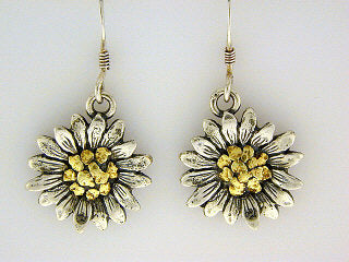 EW117  Flower with Medium Earring Wires