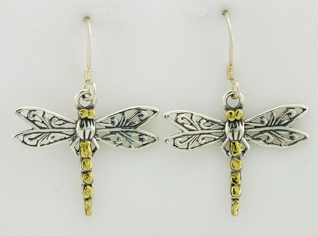 EW162  Dragonfly Earring Wires