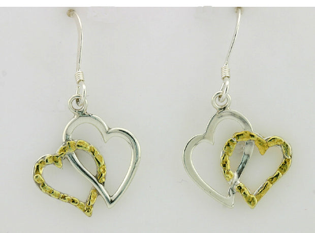EW173  Double Heart Earring Wires