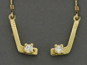 EW536D  Stick Tiny 14kt with Diamonds