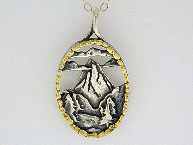 N016  Mountain Scene pendant
