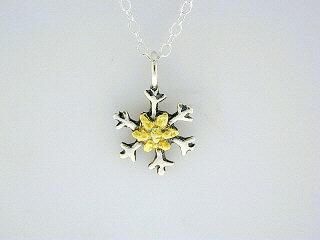 N050  Snowflake with Small pendant