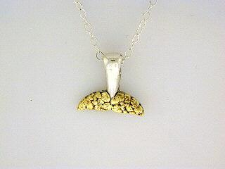 N064  Whale Tail All Small pendant