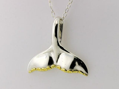N073  Whale Tail Large pendant