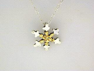 N085  Snowflake with Large pendant