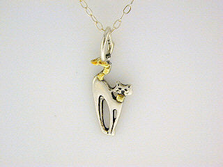 N094  Cat Small Necklace