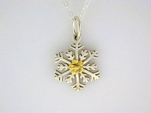N111  Snowflake with Medium Necklace
