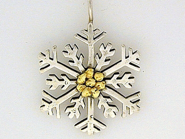 N115  Snowflake with Large Necklace