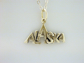 N121  Alaska Mountain Necklace Silver