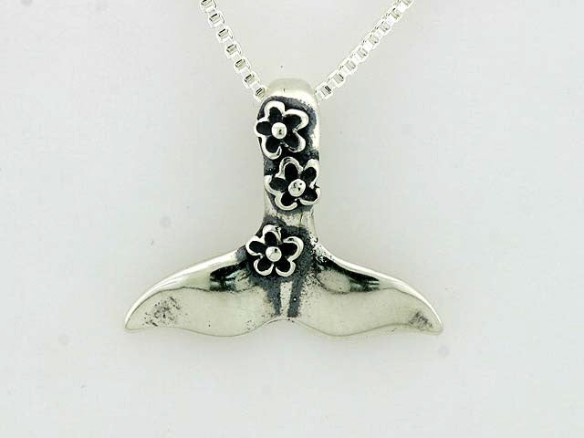 N160  Whale Tail Flower with Silver