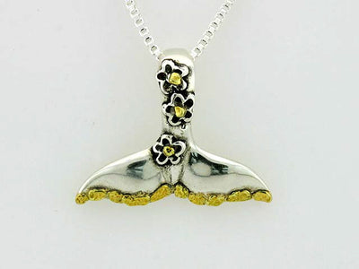 N161  Whale Tail Silver & Nuggets