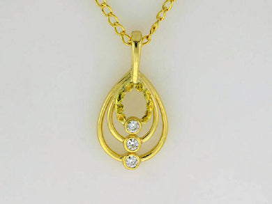 N320  Three Tier Diamonds Necklace
