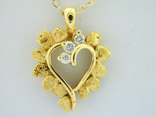 N333  Heart Diamond Necklace