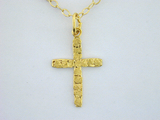 N344  Cross Small 14kt Necklace