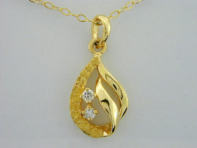 N416D  14kt Pendant with Diamonds