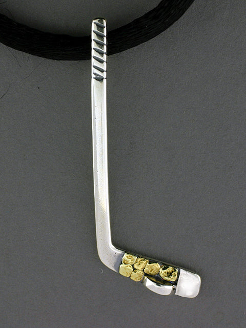 N545-SN   Stick Large with/puck Silver Nuggets