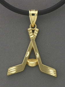 N595  Hockey Sticks Criss Cross 14kt