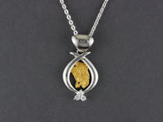 N827SCZ /1.1  Sculptural Pendant Silver with/CZ and Nuggets