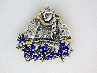 P020  Berry Blue Picker Brooch