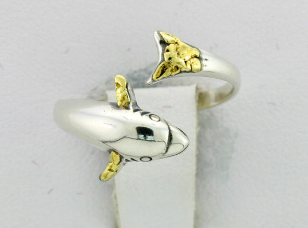 R038  Dolphin Small Adjustable Ring